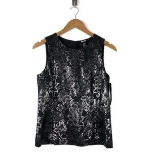 DKNY Metallic Jacquard Sleeveless Top NWT